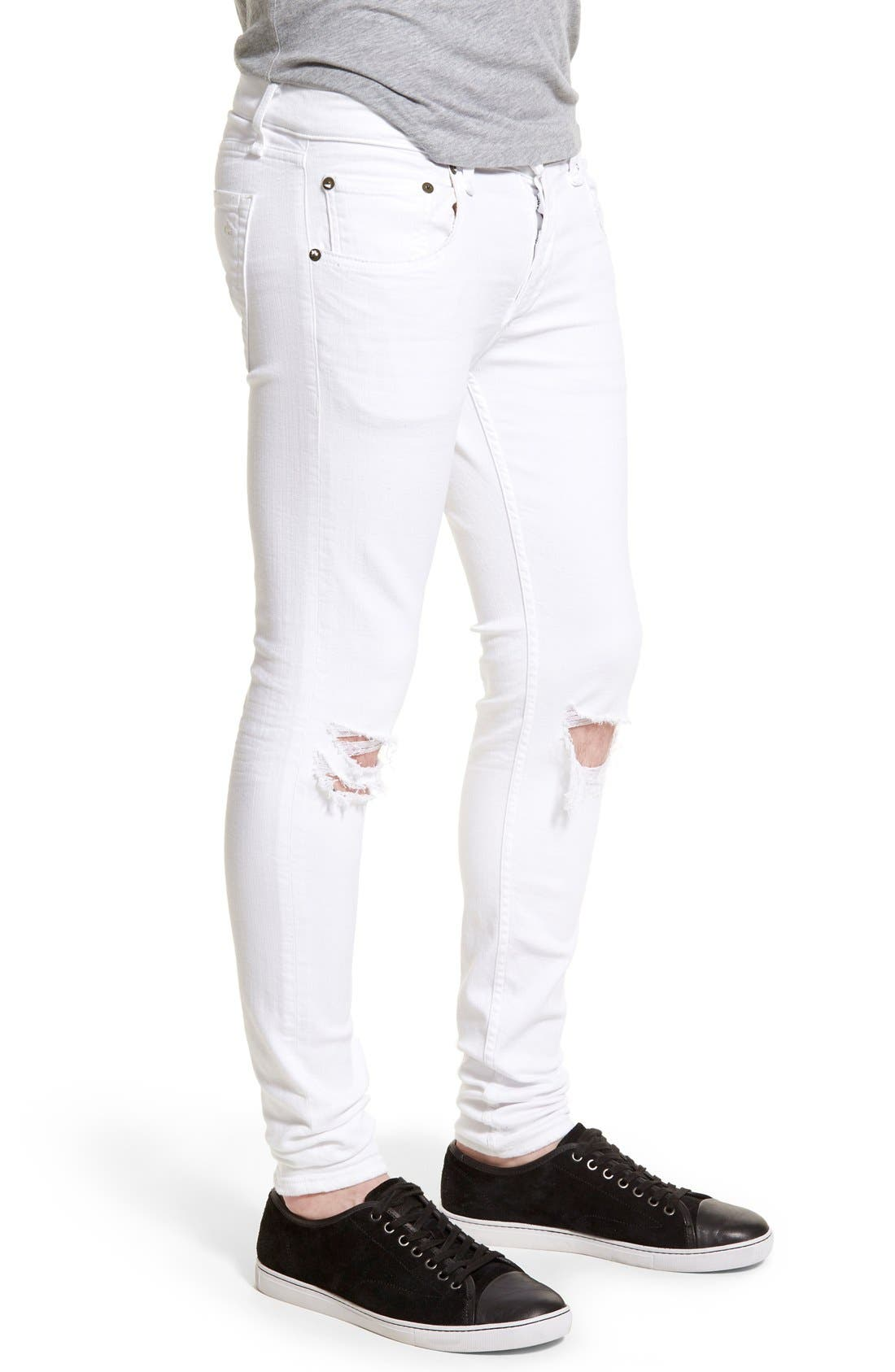 Alternate Image 3  - rag & bone Standard Issue Fit 1 Skinny Fit Jeans (Aged White)