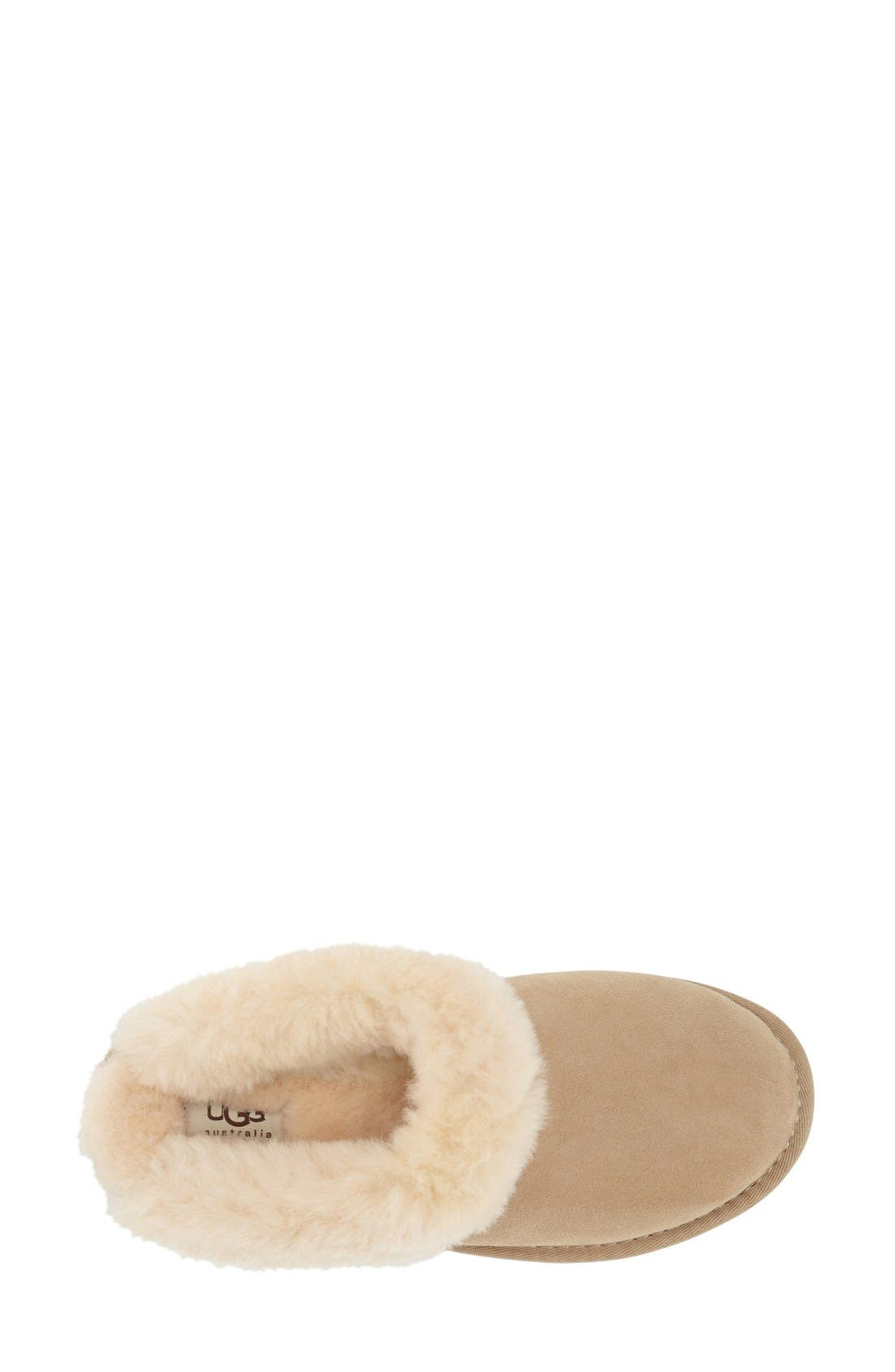 Alternate Image 3  - UGG® 'Cluggette' Genuine Shearling Indoor/Outdoor Slipper (Women)