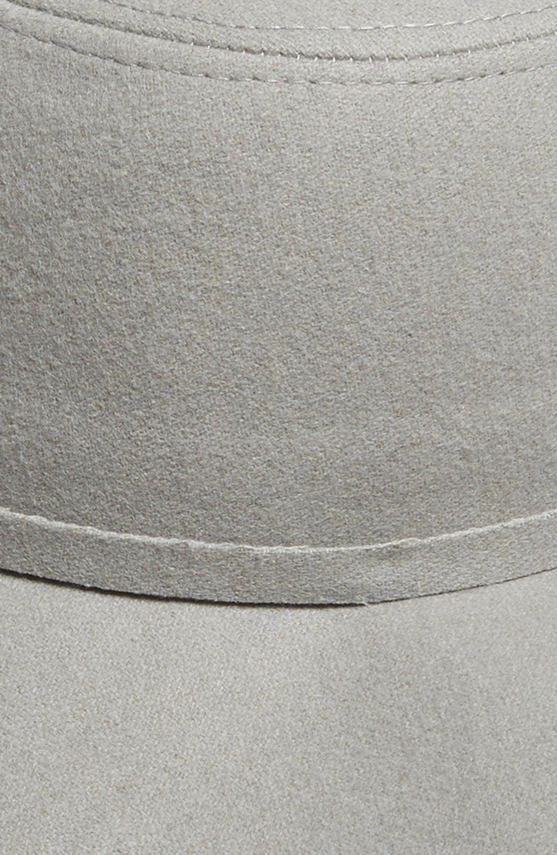 Floppy Felt Hat,                             Alternate thumbnail 3, color,                             Grey Opal