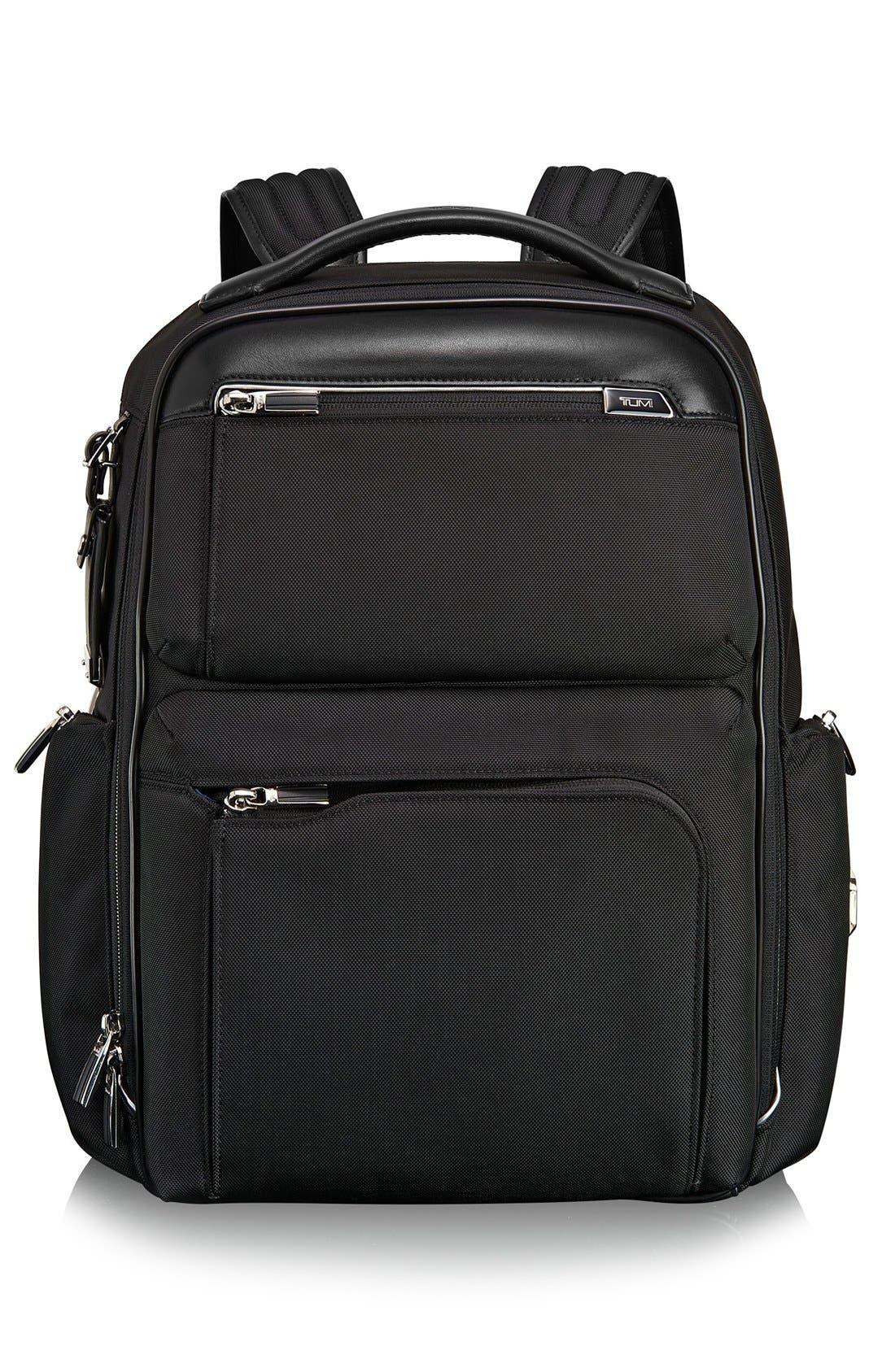 Arrivé - Bradley Backpack,                             Main thumbnail 1, color,                             Black