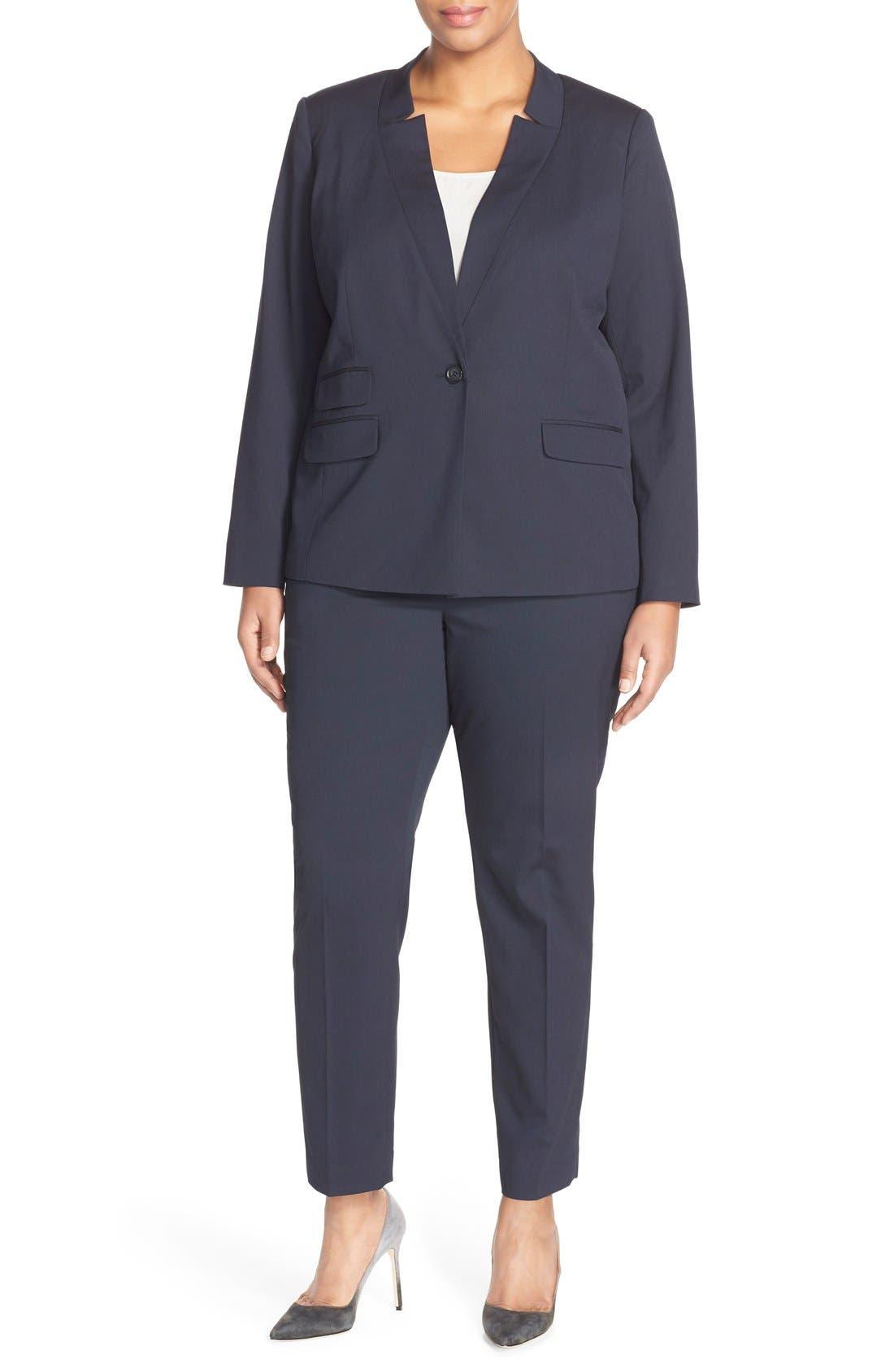 Halogen® Suit Jacket & Pants (Plus Size)