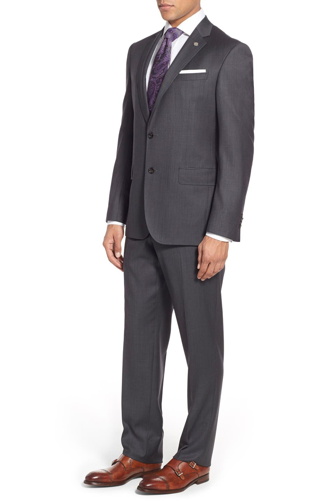Alternate Image 3  - Ted Baker London 'Jay' Trim Fit Solid Wool Suit