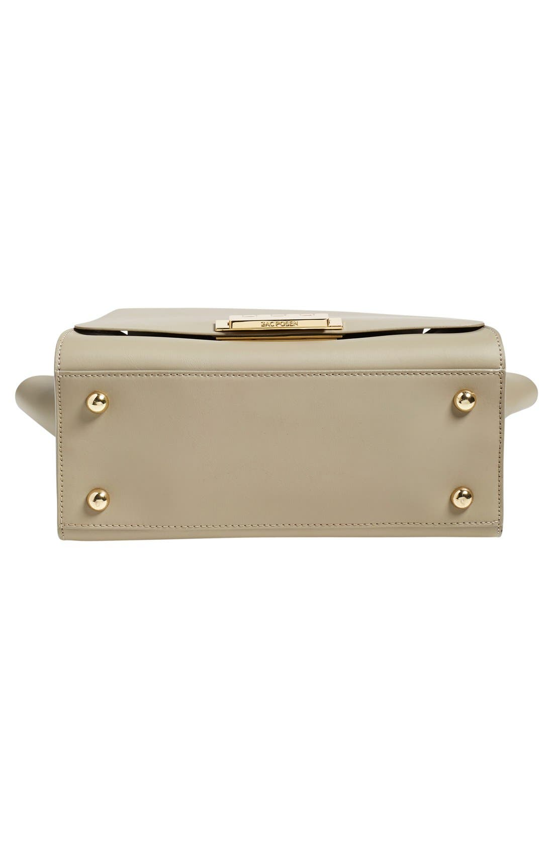 'Eartha' Soft Top Handle Satchel,                             Alternate thumbnail 5, color,                             Beige