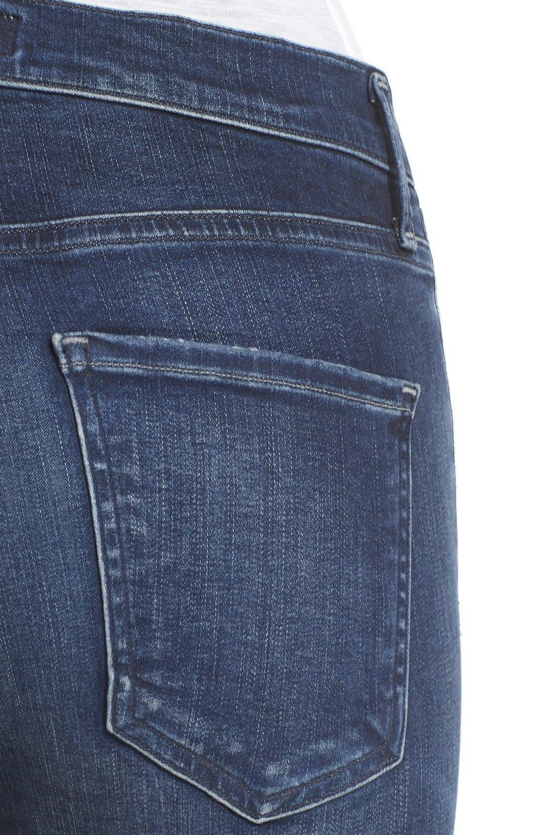 A Gold E 'Sophie' Crop Jeans,                             Alternate thumbnail 4, color,                             Claremont (Med Wash)