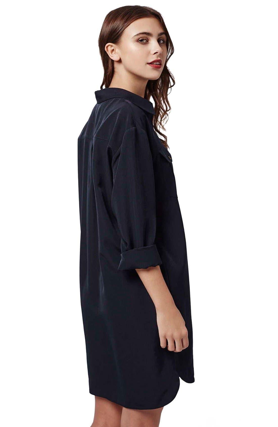 Alternate Image 3  - Topshop Oversize Shirtdress (Petite)