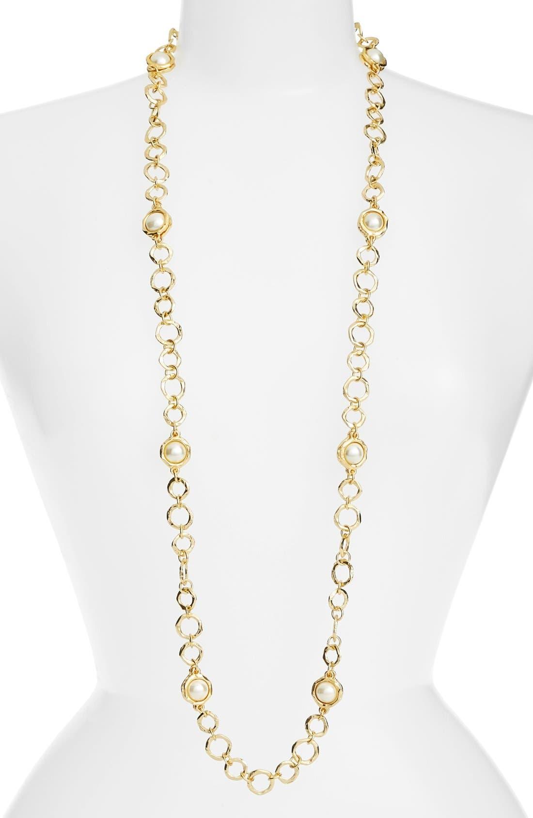 Karine Sultan Long Imitation Pearl Necklace