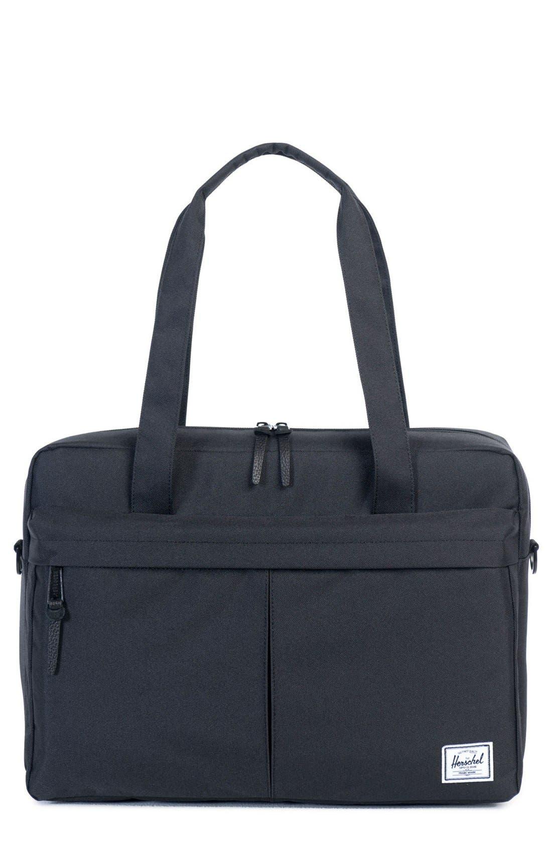 'Gibson' Messenger Bag,                             Main thumbnail 1, color,                             Black