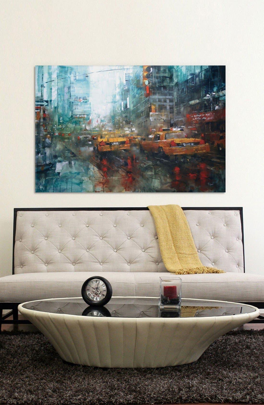 'Reflections' Giclée Print Canvas Art,                             Alternate thumbnail 2, color,                             Blue