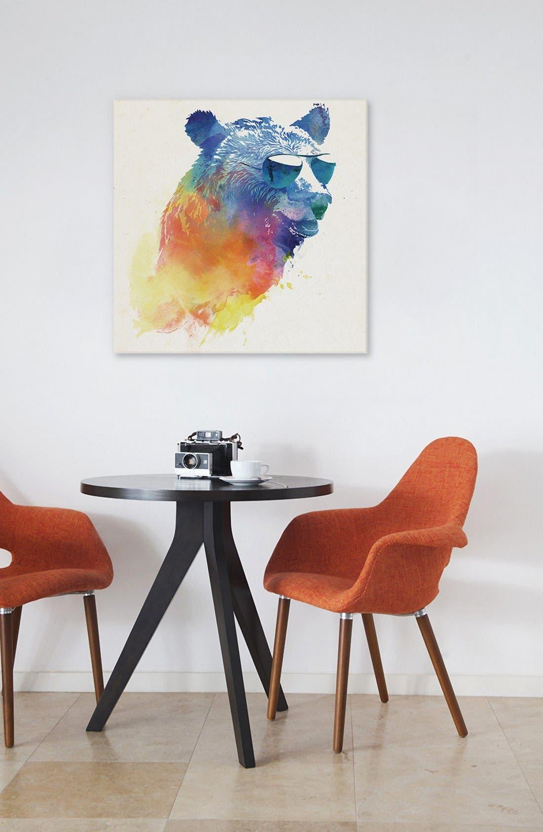 'Sunny Bear' Giclée Print Canvas Art,                             Alternate thumbnail 2, color,                             Blue