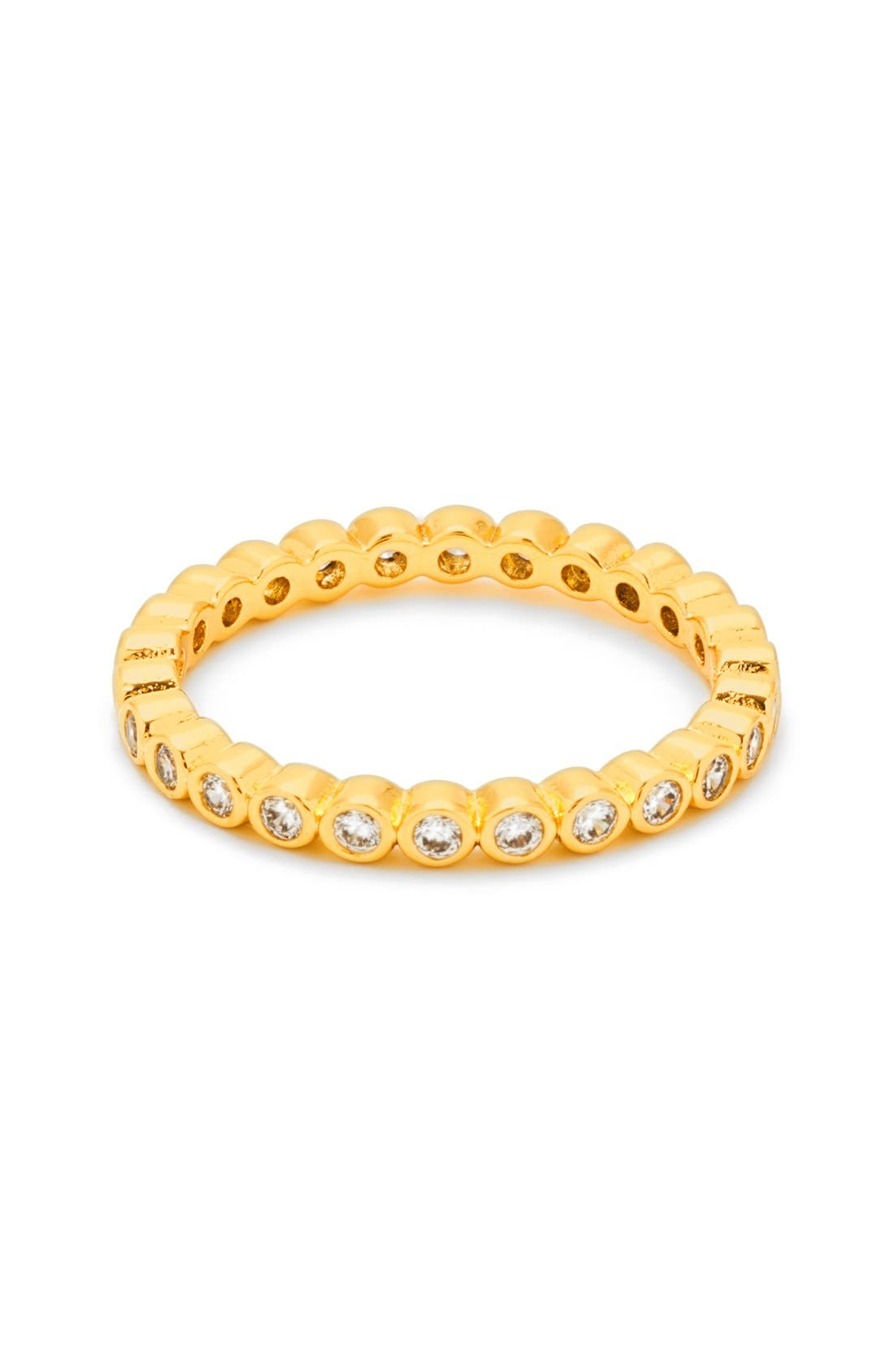 'Candice' Cubic Zirconia Band,                         Main,                         color, Gold