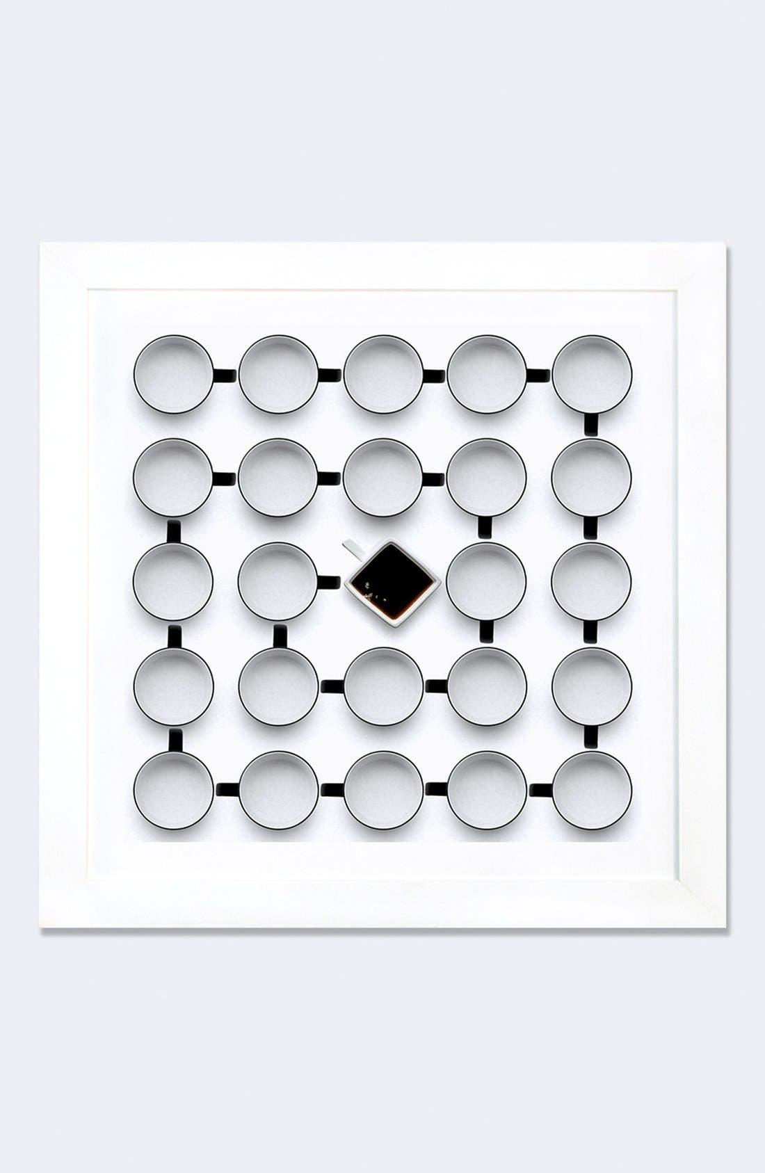 'Helix II' Framed Fine Art Print,                             Main thumbnail 1, color,                             White