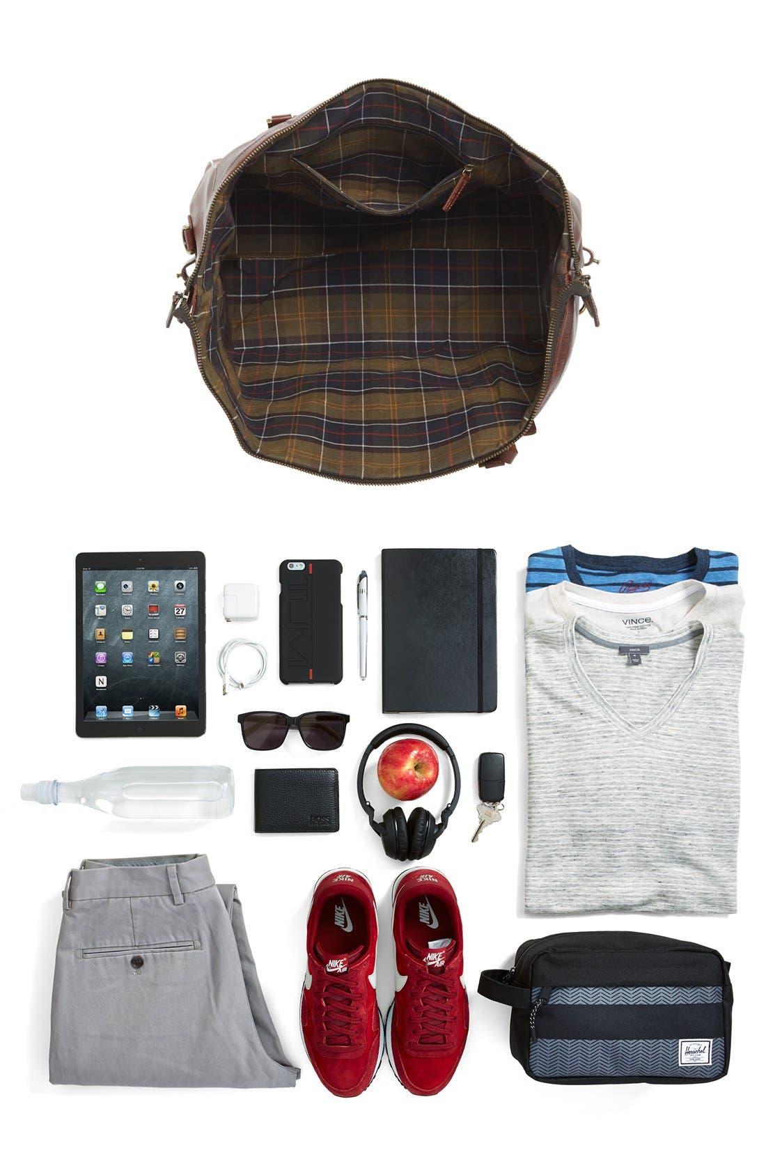 Alternate Image 7  - Barbour Leather Travel Bag