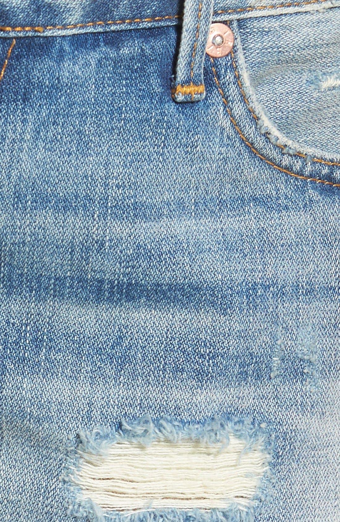 Alternate Image 5  - True Religion Brand Jeans Joey Flap Pocket Cutoff Shorts (Vintage True Destroyed)