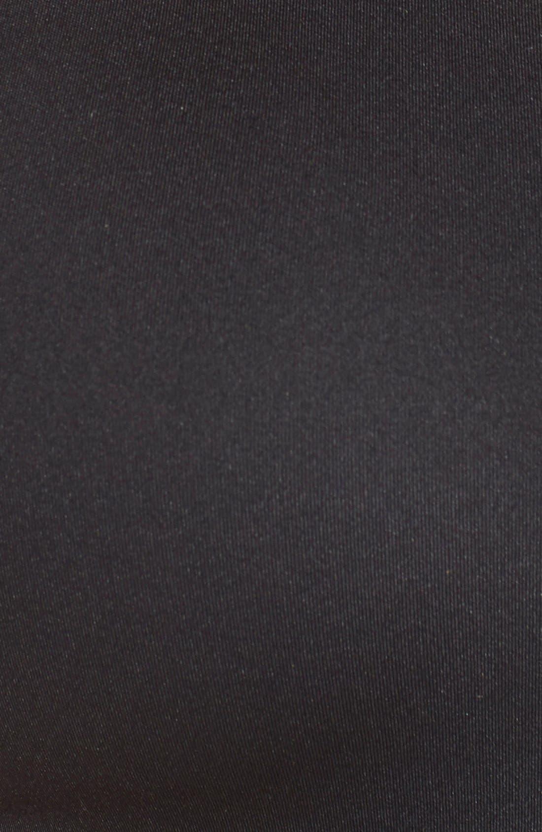 'Uplift' Cross Back Sports Bra,                             Alternate thumbnail 6, color,                             Black
