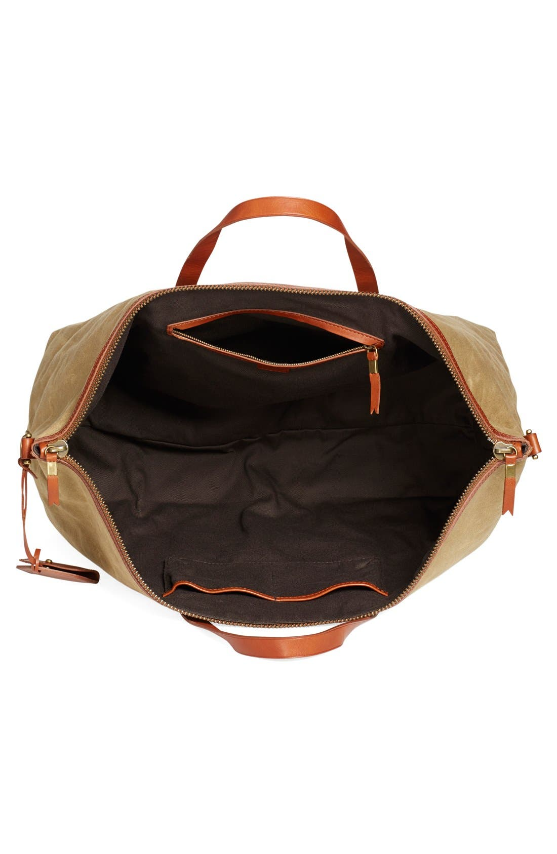 The Transport Canvas Weekend Bag,                             Alternate thumbnail 4, color,                             Truffle