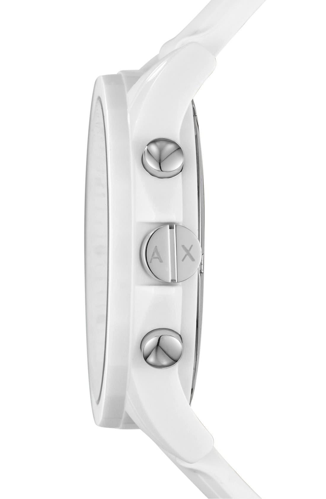 Alternate Image 2  - AX Armani Exchange Chronograph Silicone Strap Watch, 44mm