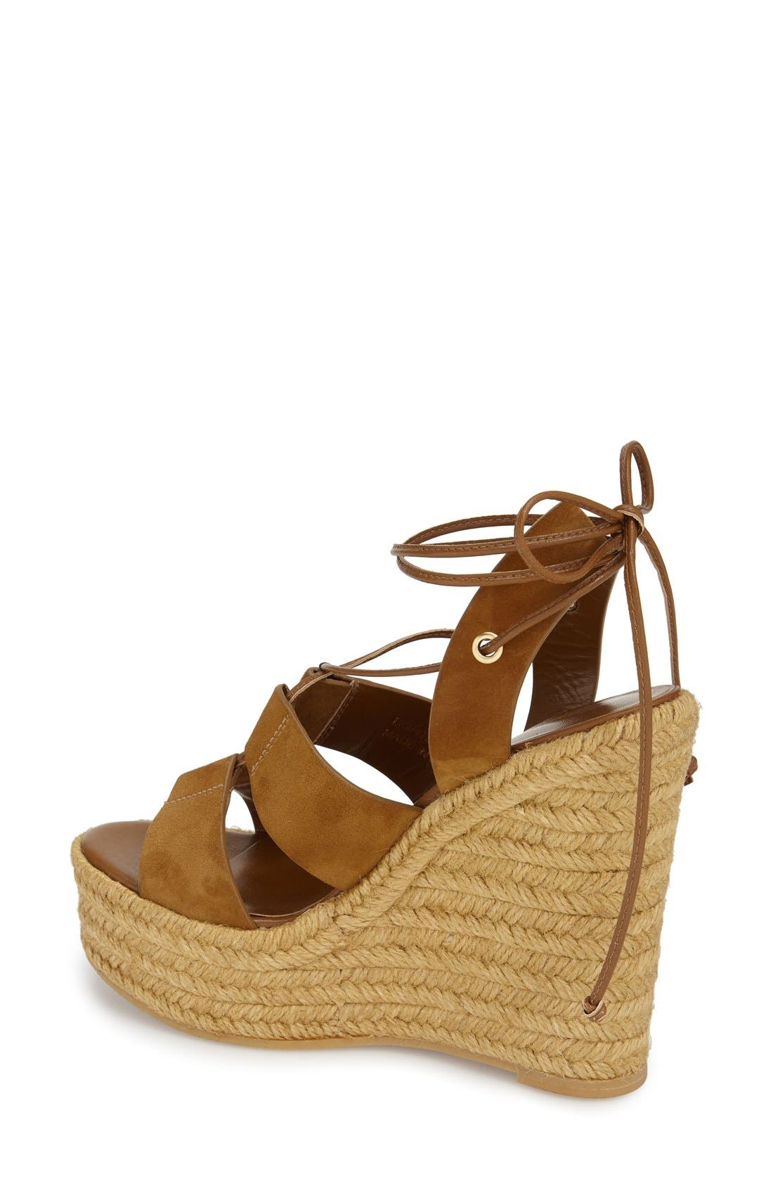 Woven Espadrille Wedge Sandal,                             Alternate thumbnail 2, color,                             Tan Suede