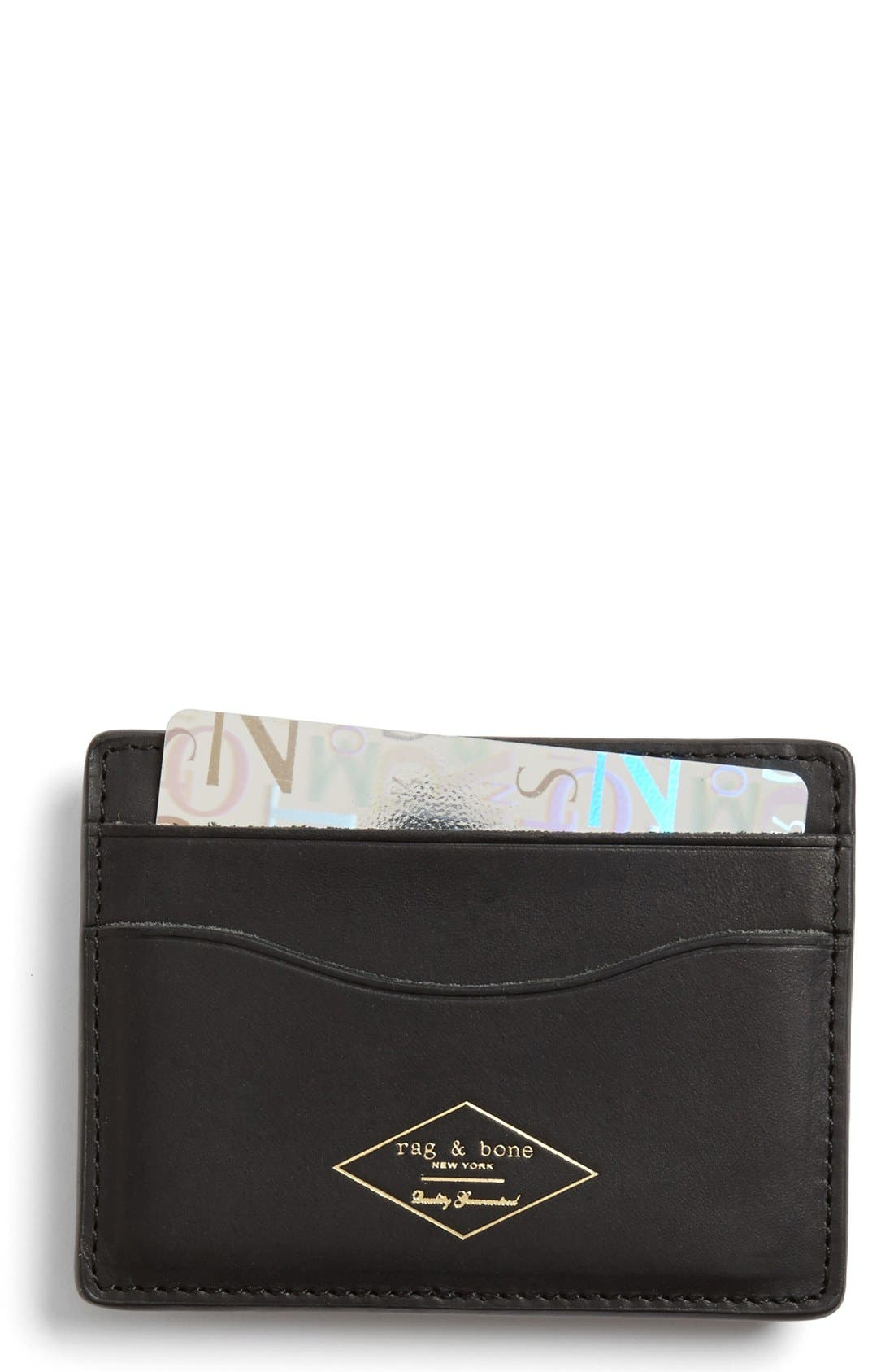 Main Image - rag & bone Leather Card Case