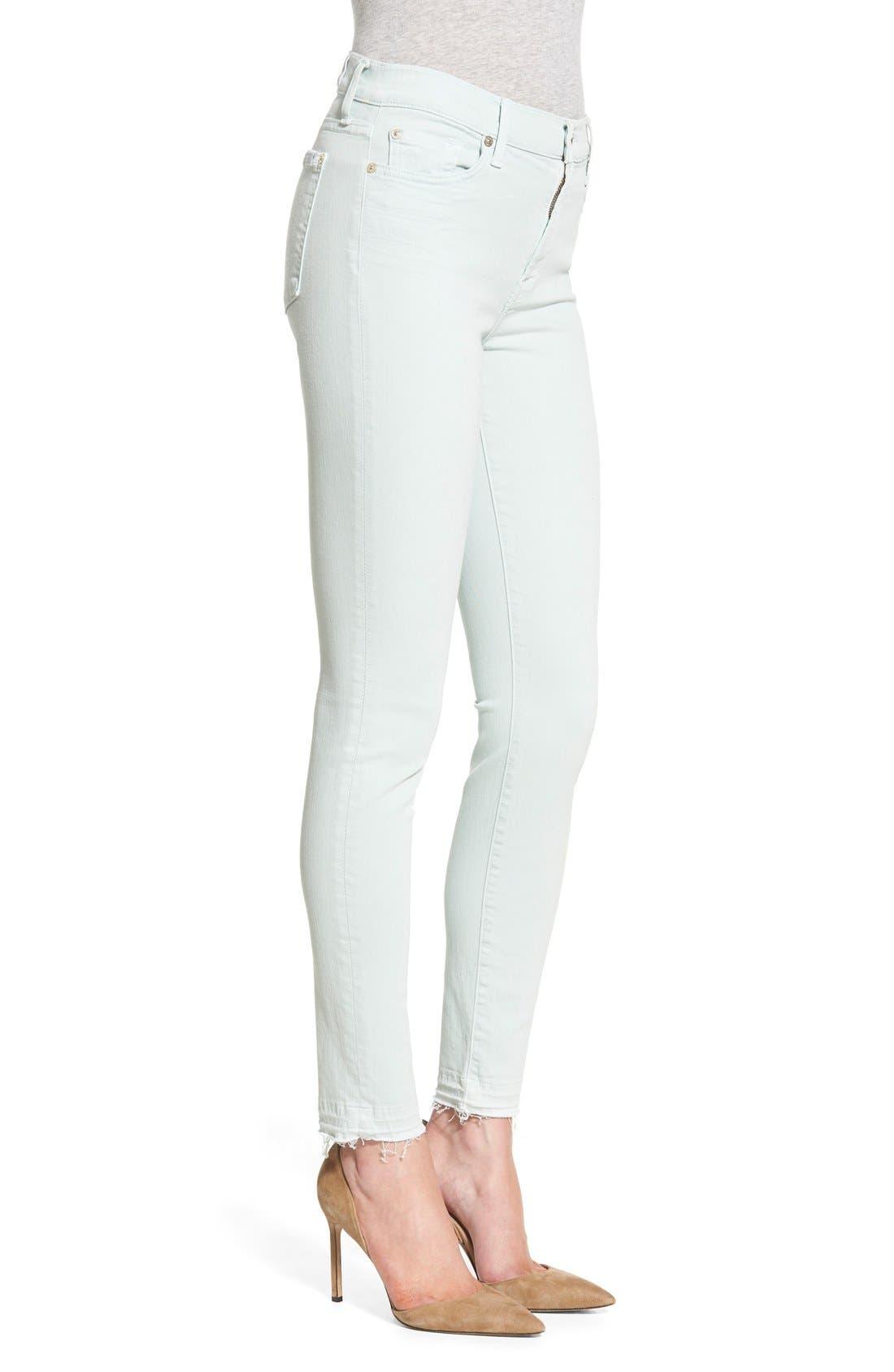 Alternate Image 3  - 7 For All Mankind® Released Hem Ankle Skinny Jeans