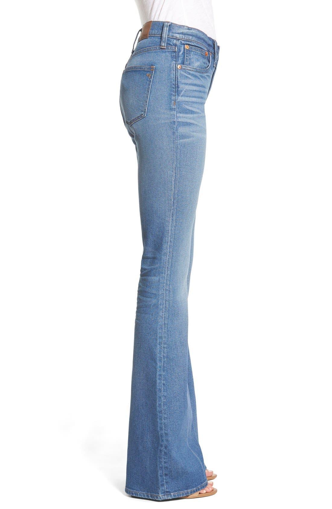 'Flea Market' Flare Jeans,                             Alternate thumbnail 3, color,                             Maribel