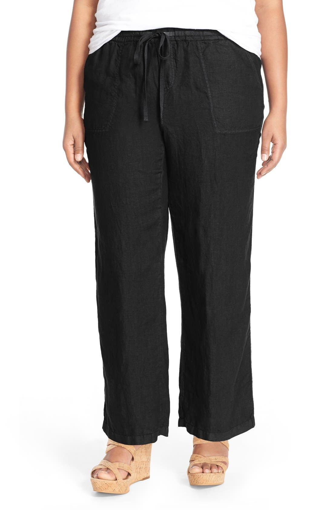 CASLON<SUP>®</SUP> Drawstring Linen Pants
