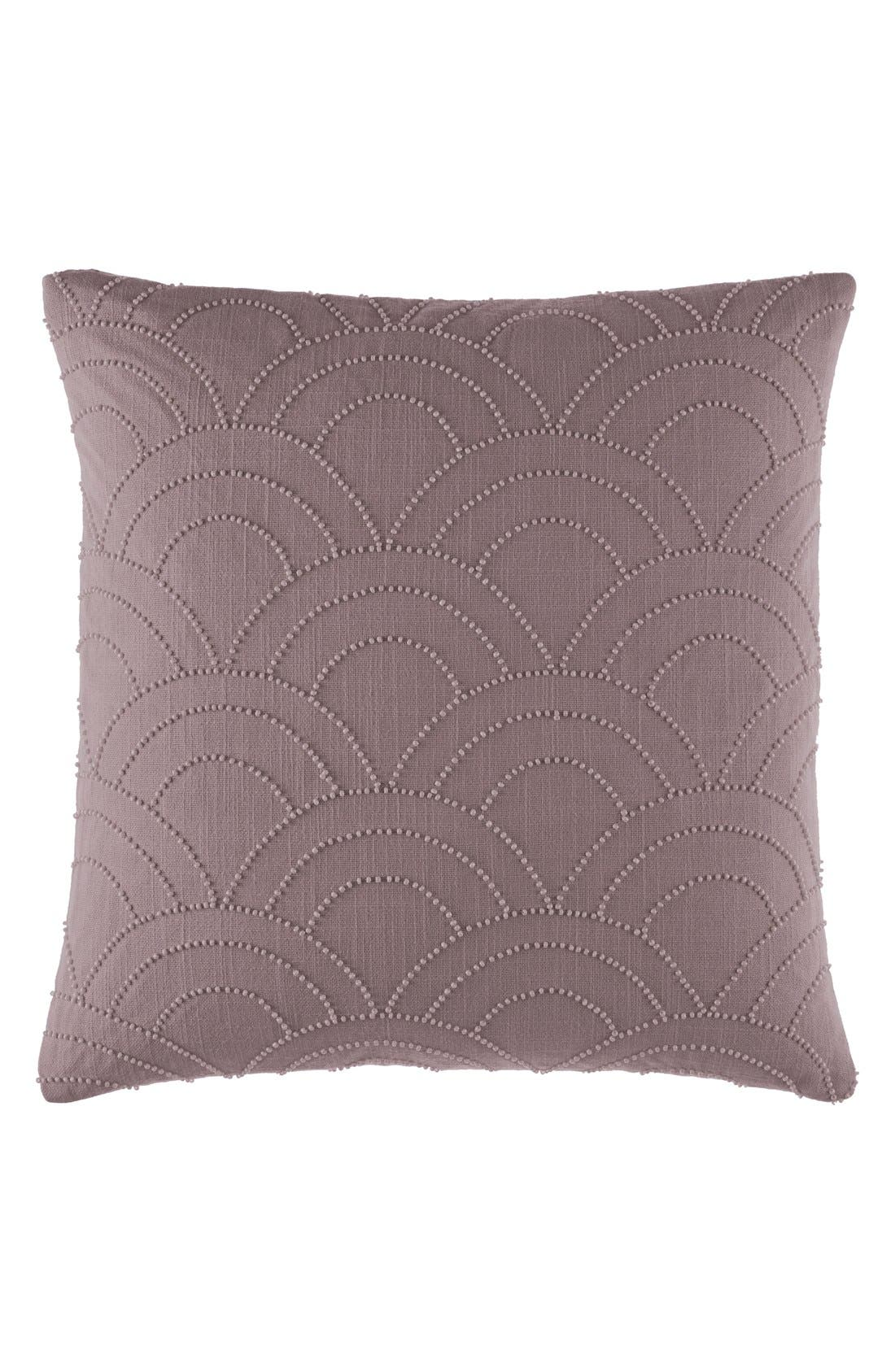 'Metro Adrian' Beaded Pillow,                             Main thumbnail 1, color,                             Plum