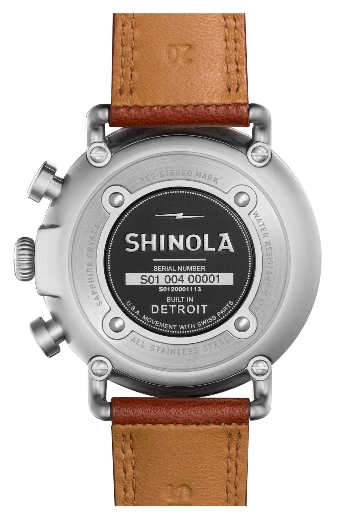 'The Runwell Chrono' Leather Strap Watch, 41mm,                             Alternate thumbnail 2, color,                             Tan/ Cool Grey