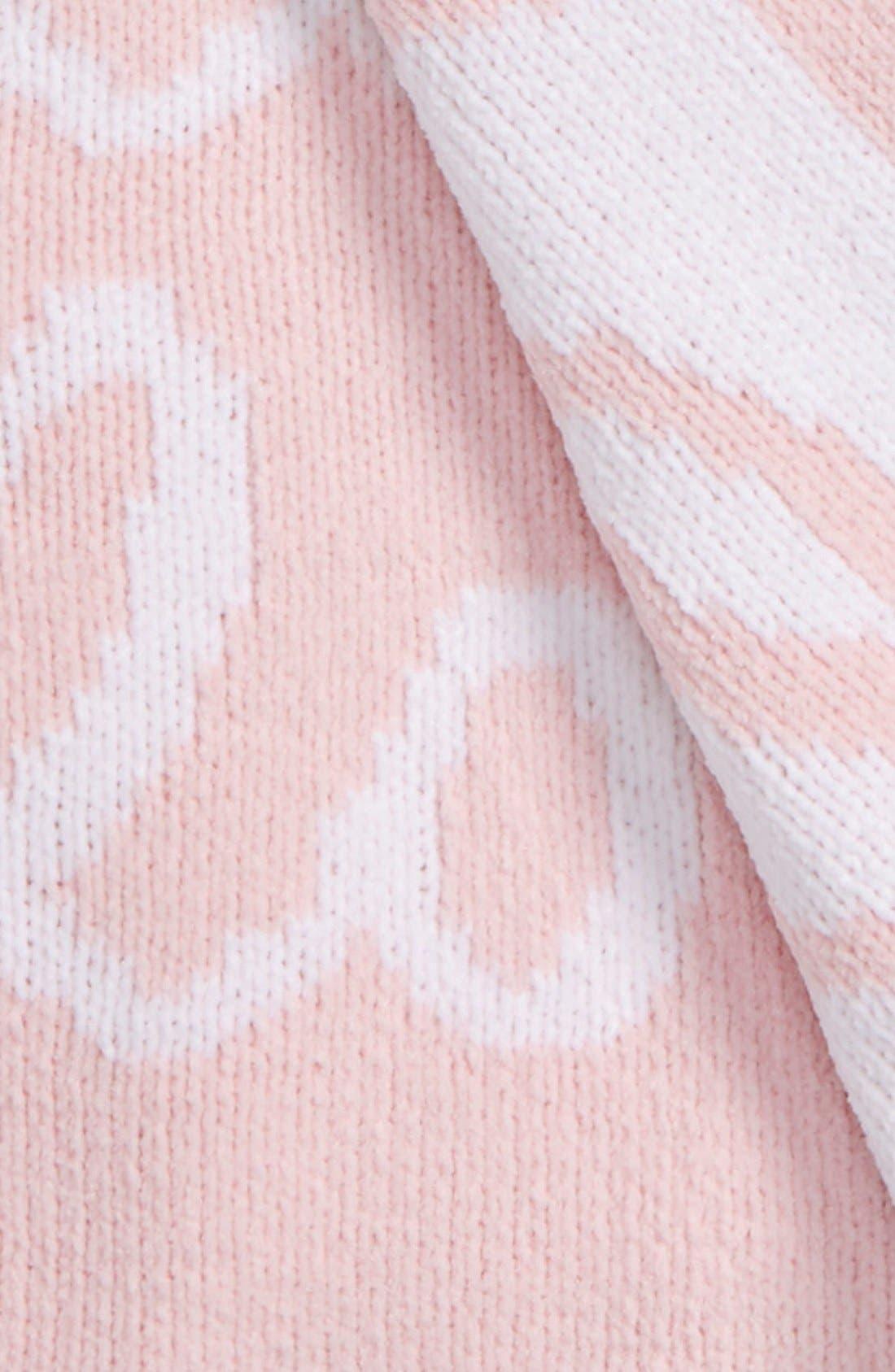 Chenille Blanket,                             Alternate thumbnail 2, color,                             Pink Baby Love