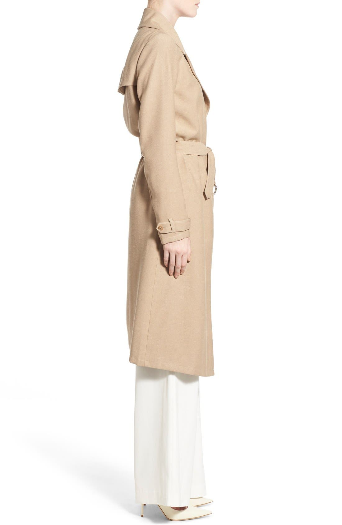 Alternate Image 3  - Chelsea28 Belted Crepe Trench Coat