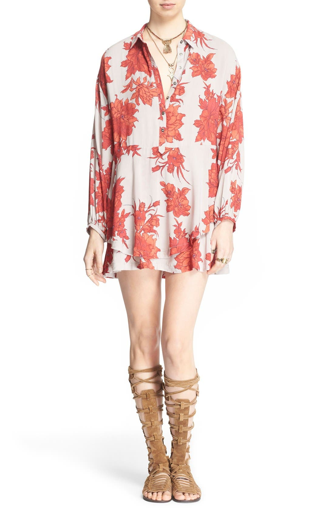 Alternate Image 1 Selected - Free People 'Shake It' Printed Tunic
