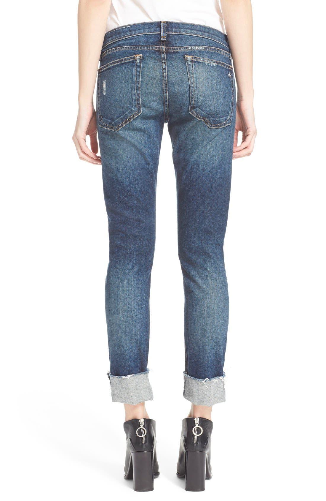 Alternate Image 3  - rag & bone/JEAN 'The Dre' Slim Fit Boyfriend Jeans (Mabel)