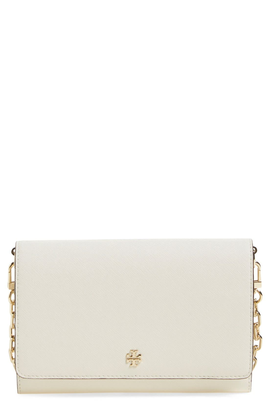 Alternate Image 1 Selected - Tory Burch 'Robinson' Leather Wallet on a Chain