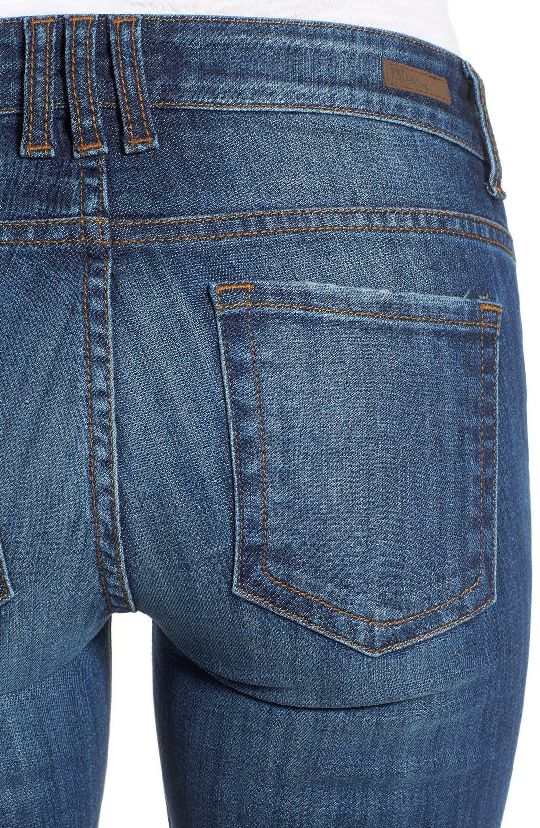 Alternate Image 4  - KUT from the Kloth 'Catherine' Distressed Stretch Boyfriend Jeans (Yearn) (Regular & Petite)