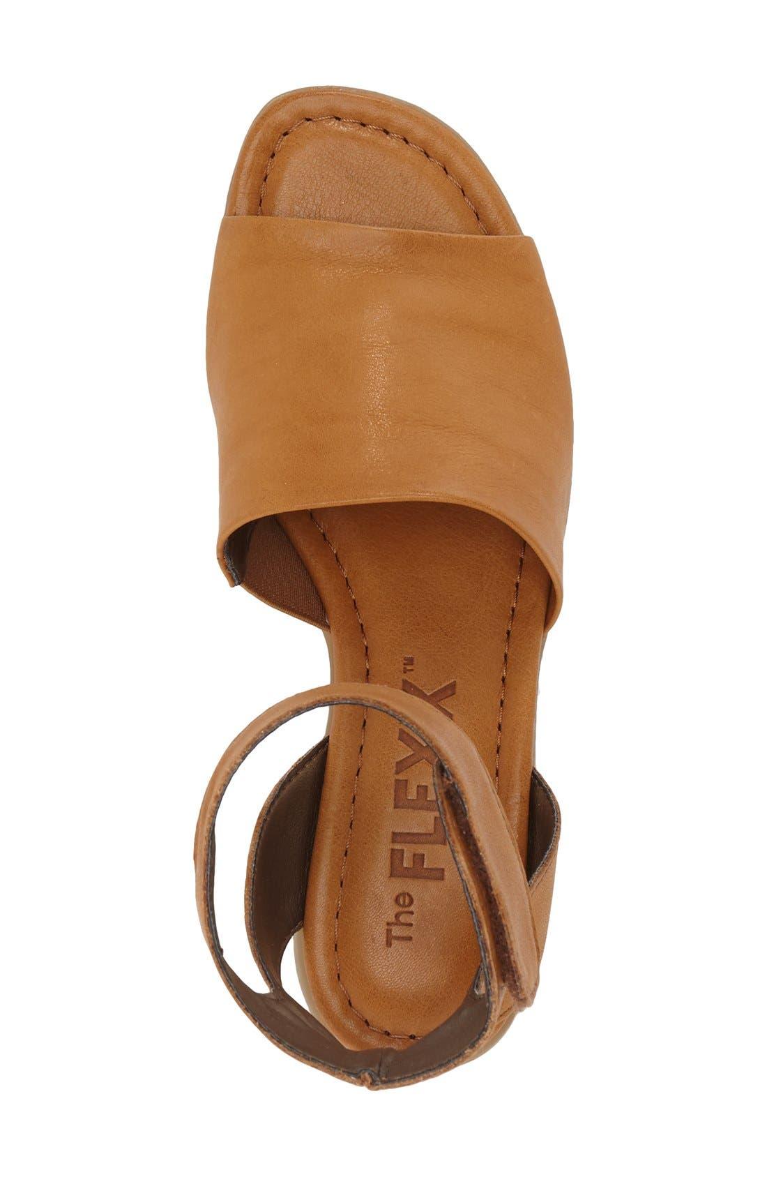'Beglad' Leather Ankle Strap Sandal,                             Alternate thumbnail 3, color,                             Virginia Brown Leather
