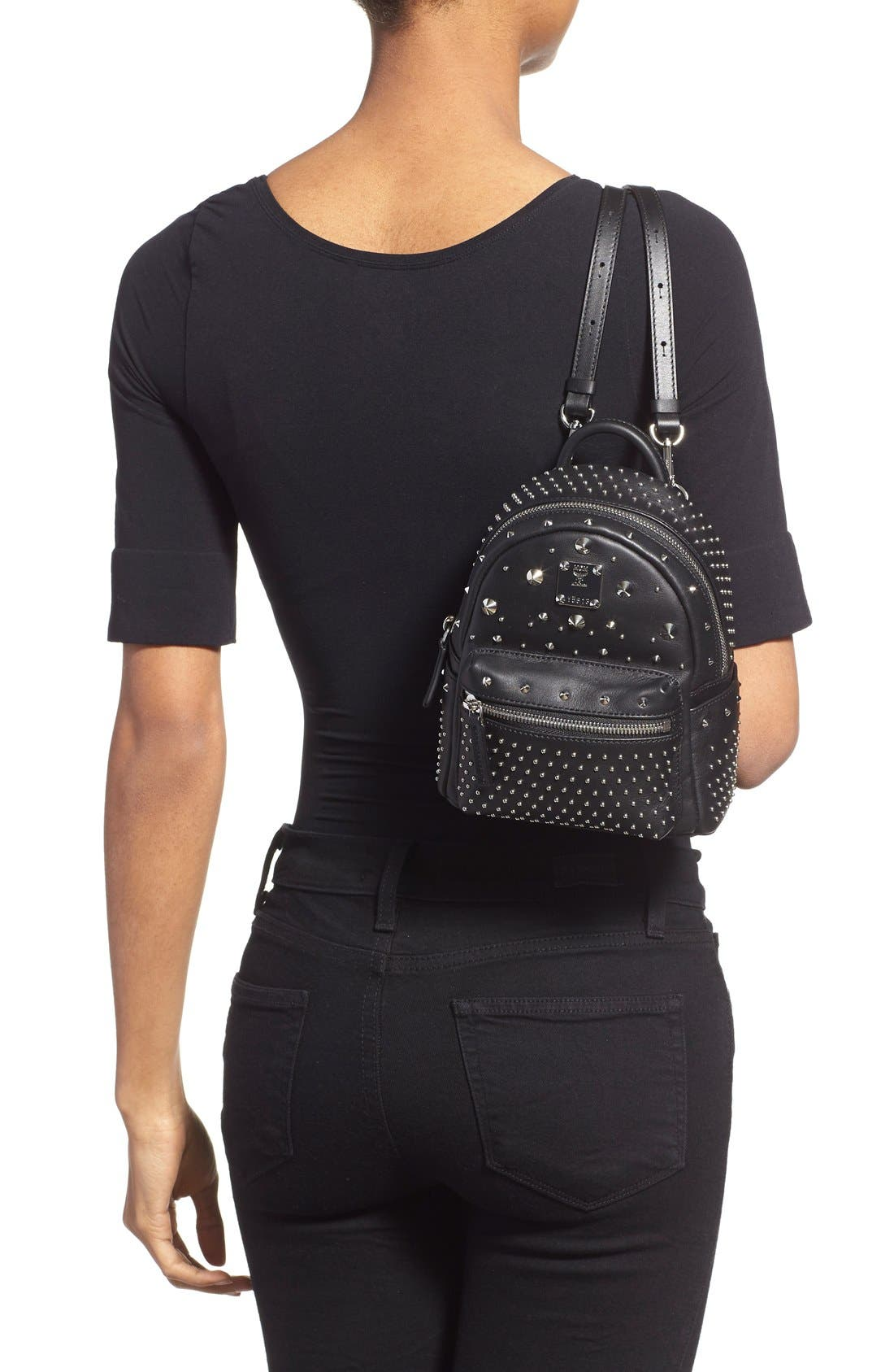 Alternate Image 2  - MCM 'X-Mini Stark - Bebe Boo' Studded Leather Backpack