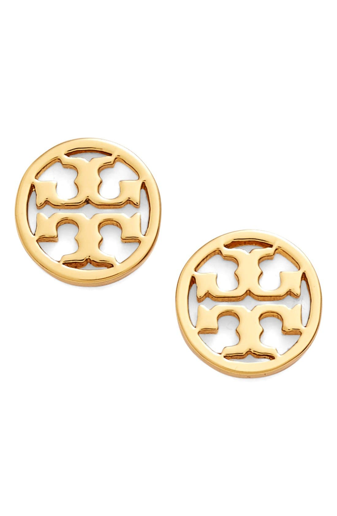 Tory Burch Circle Logo Stud Earrings