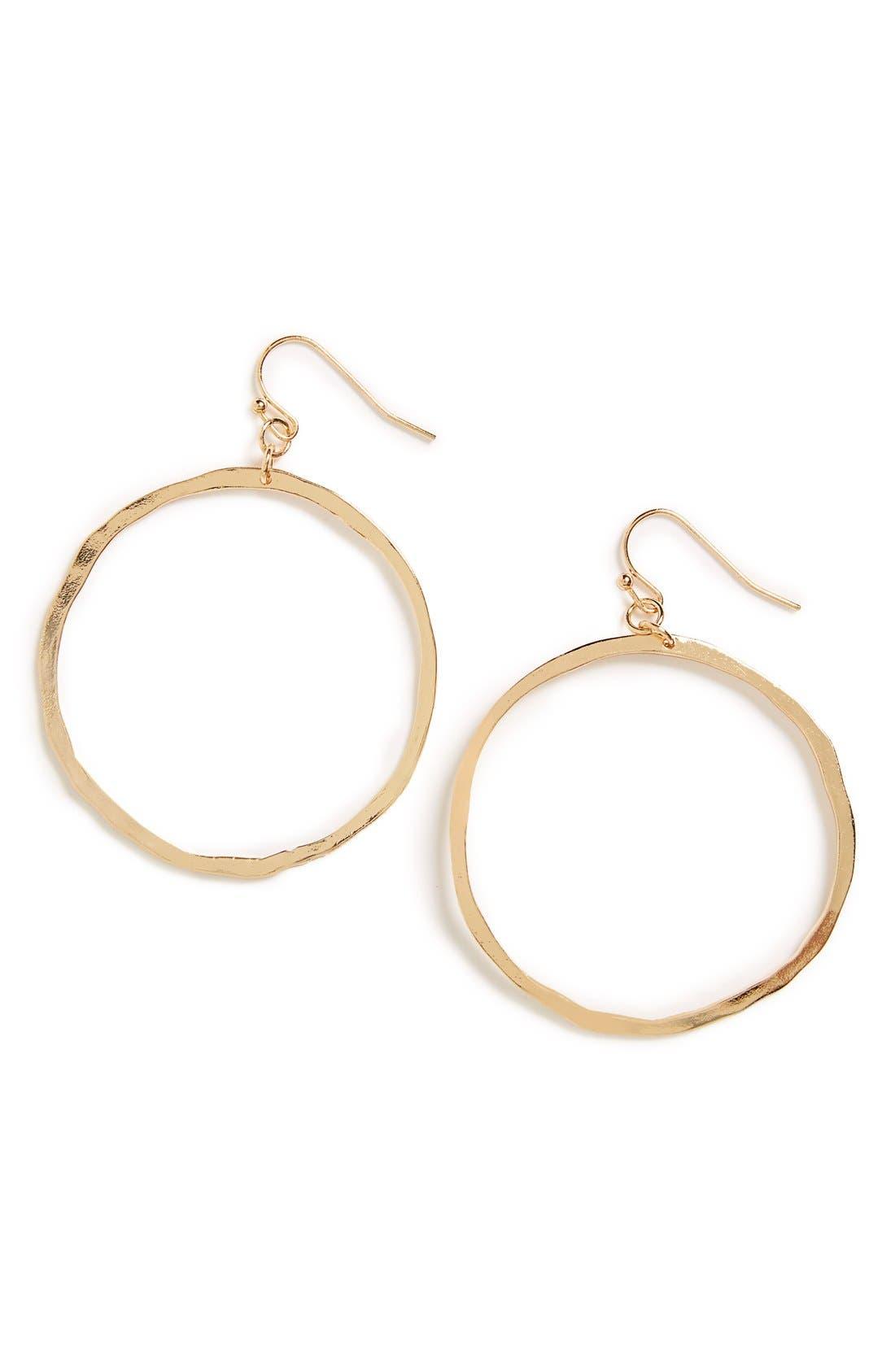 Main Image - BP. Hammered Circle Earrings