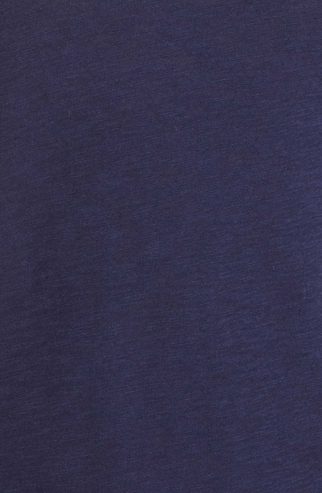 Lace Inset Jersey Tank,                             Alternate thumbnail 5, color,                             Navy