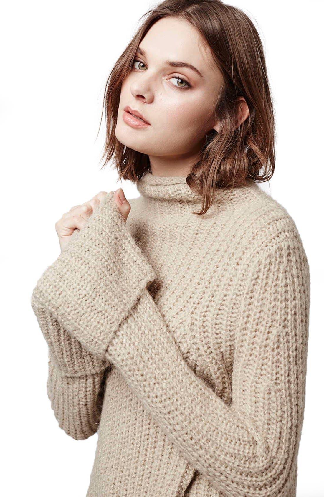 Alternate Image 5  - Topshop 'Jumbo' Funnel Neck Sweater