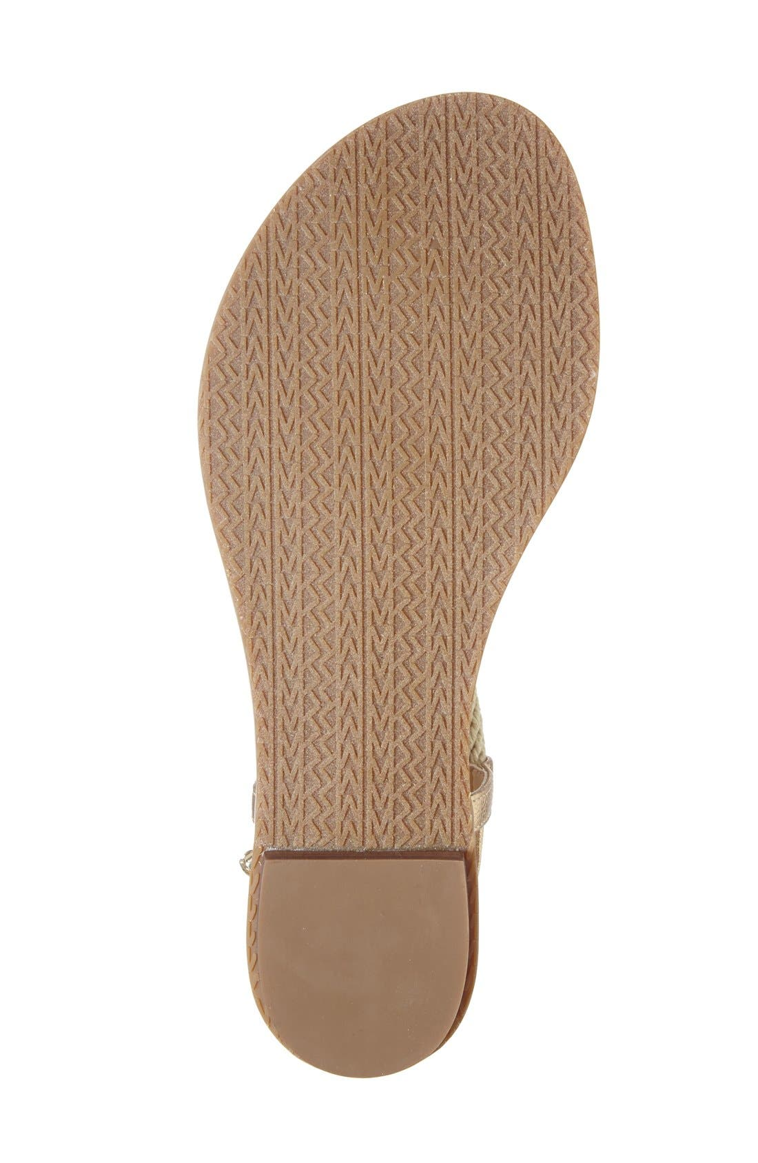 'Holly' Sandal,                             Alternate thumbnail 4, color,                             Pale Gold