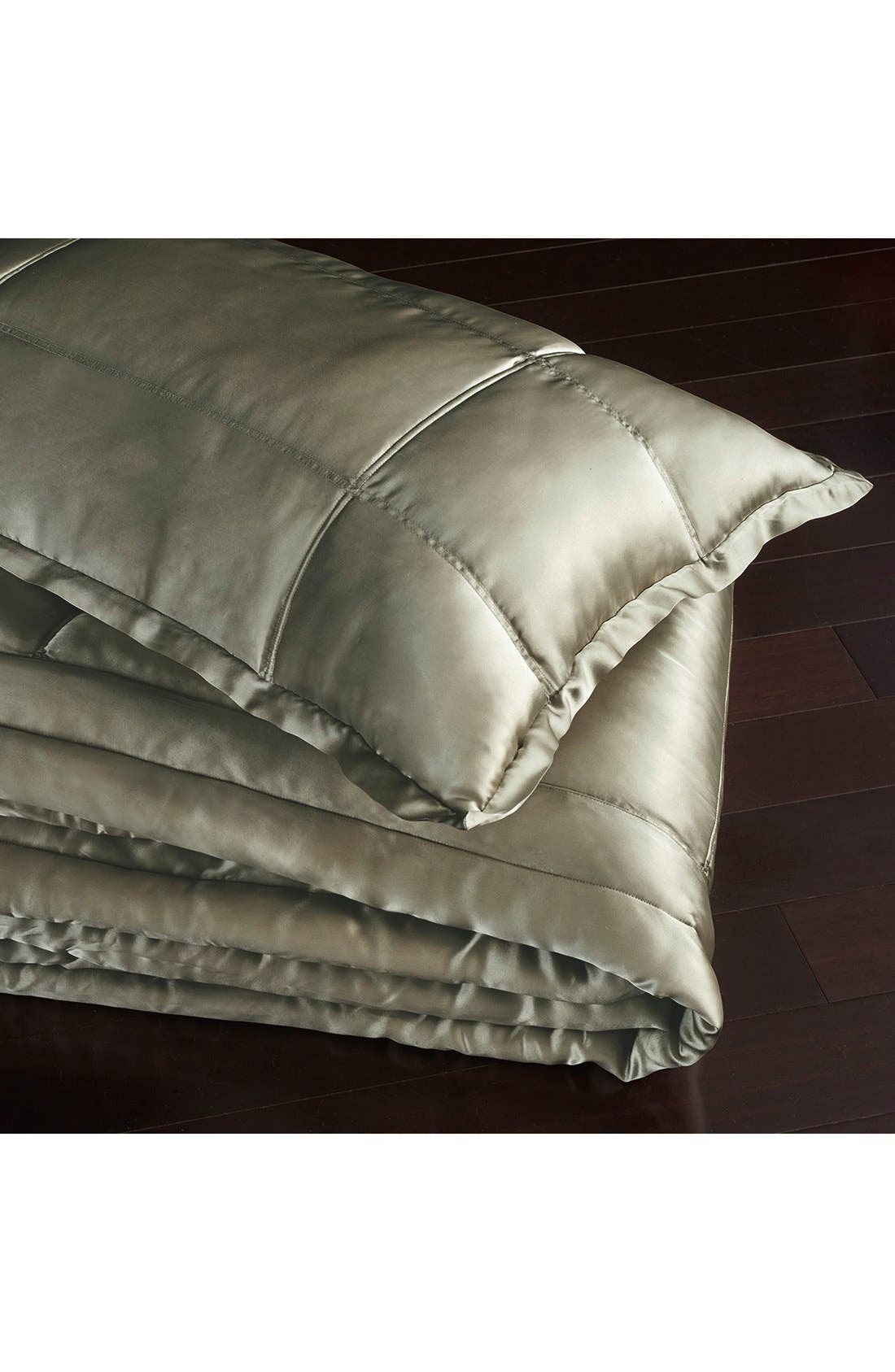 Donna Karan Collection 'Exhale' Silk Charmeuse Quilt,                             Alternate thumbnail 2, color,                             Moss