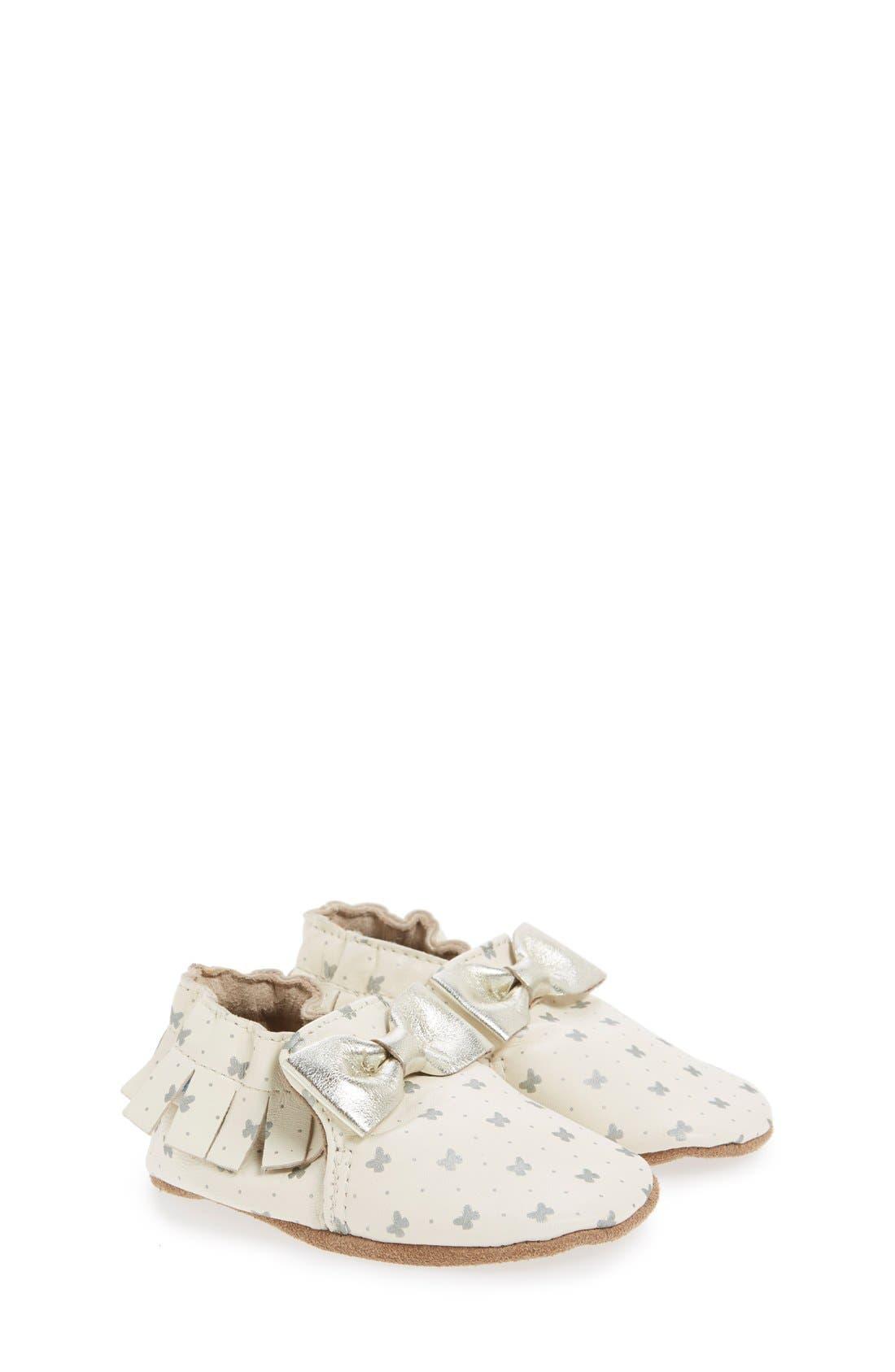 Alternate Image 1 Selected - Robeez® 'Maggie Moccasin' Crib Shoe (Baby & Walker)