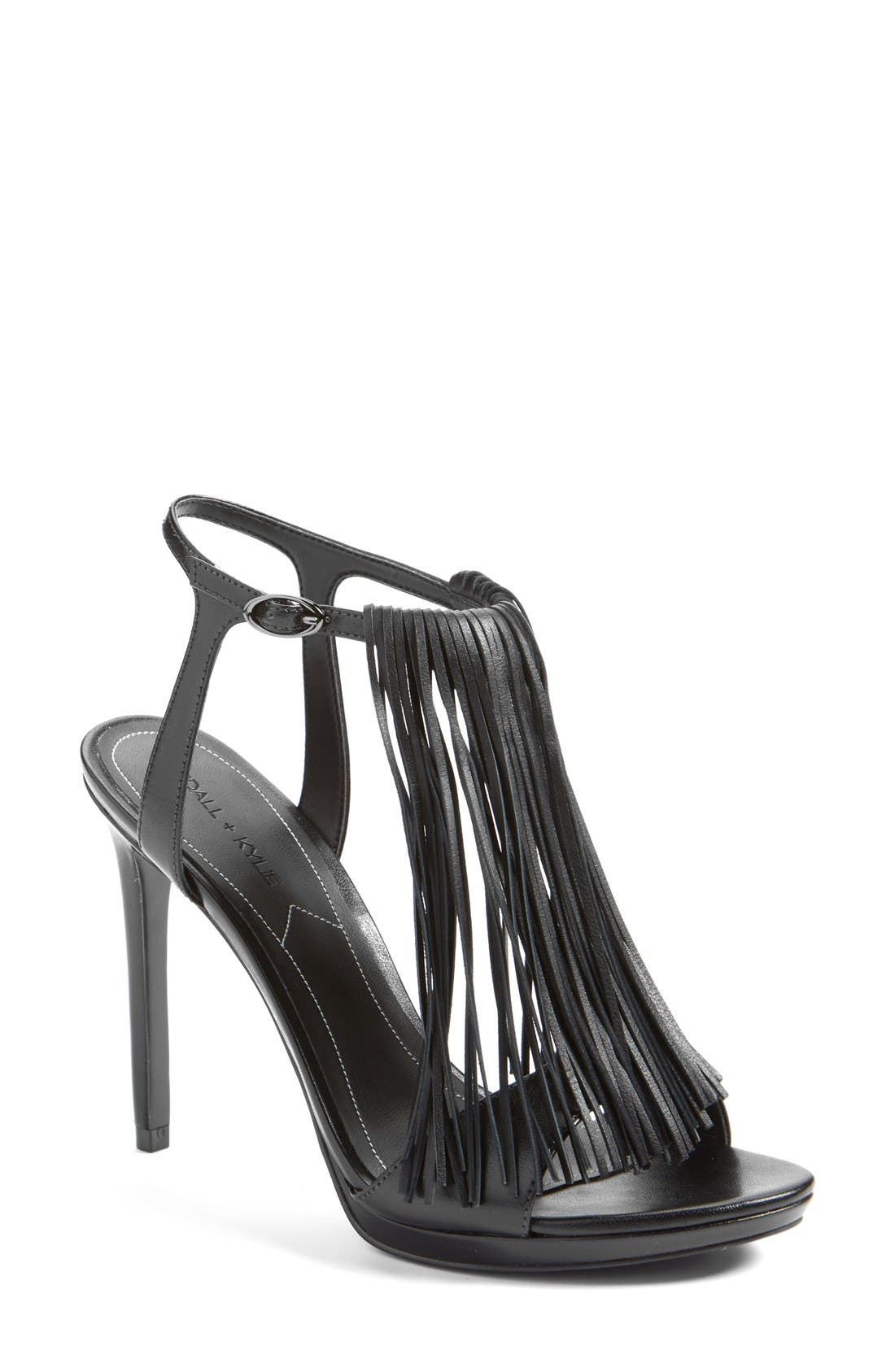 Main Image - KENDALL + KYLIE 'Aries' Fringe T-Strap Sandal (Women)