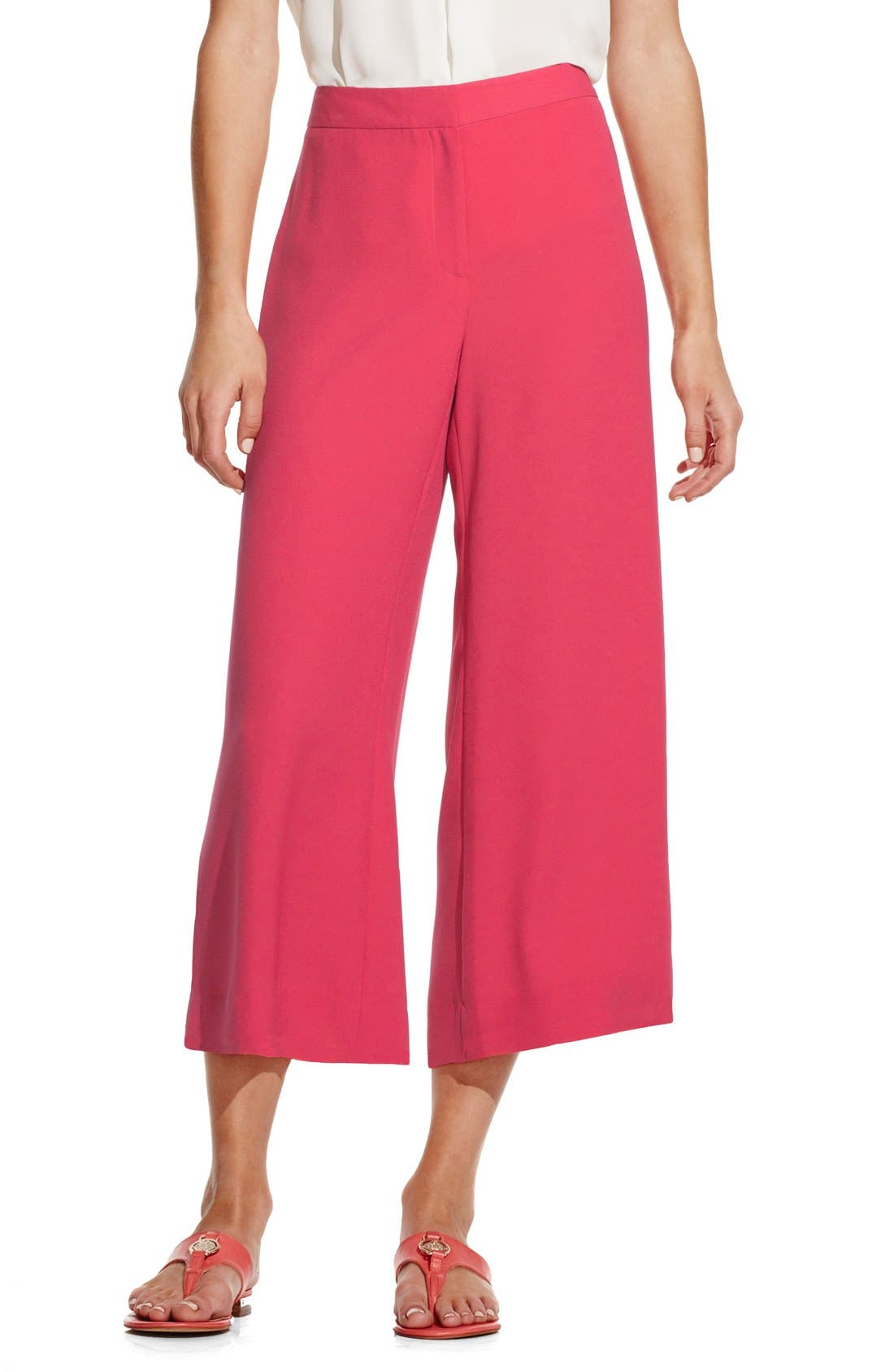 Alternate Image 1 Selected - Vince Camuto Zip Front Culottes