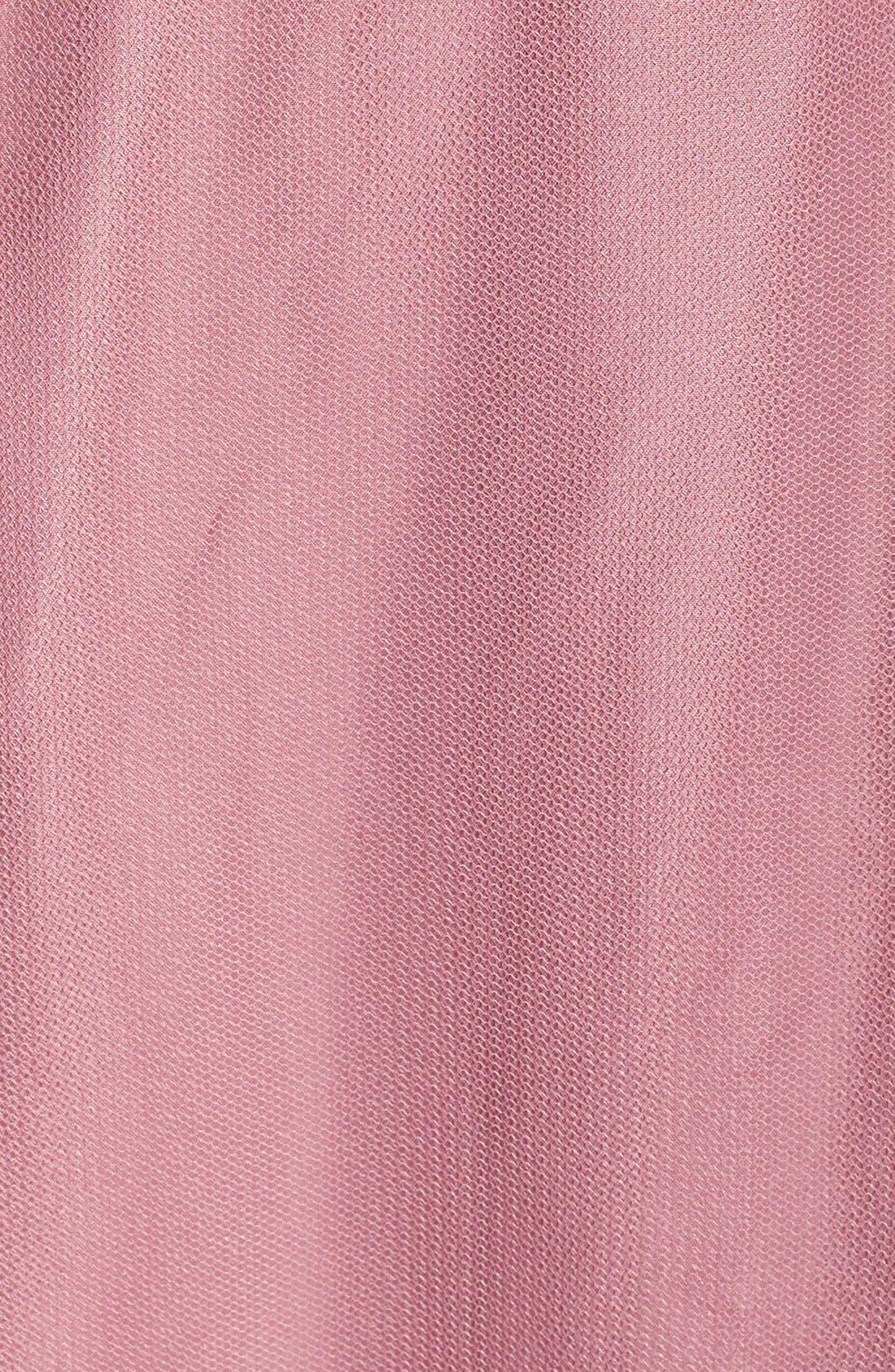 Surplice Tulle Gown,                             Alternate thumbnail 5, color,                             Cerise