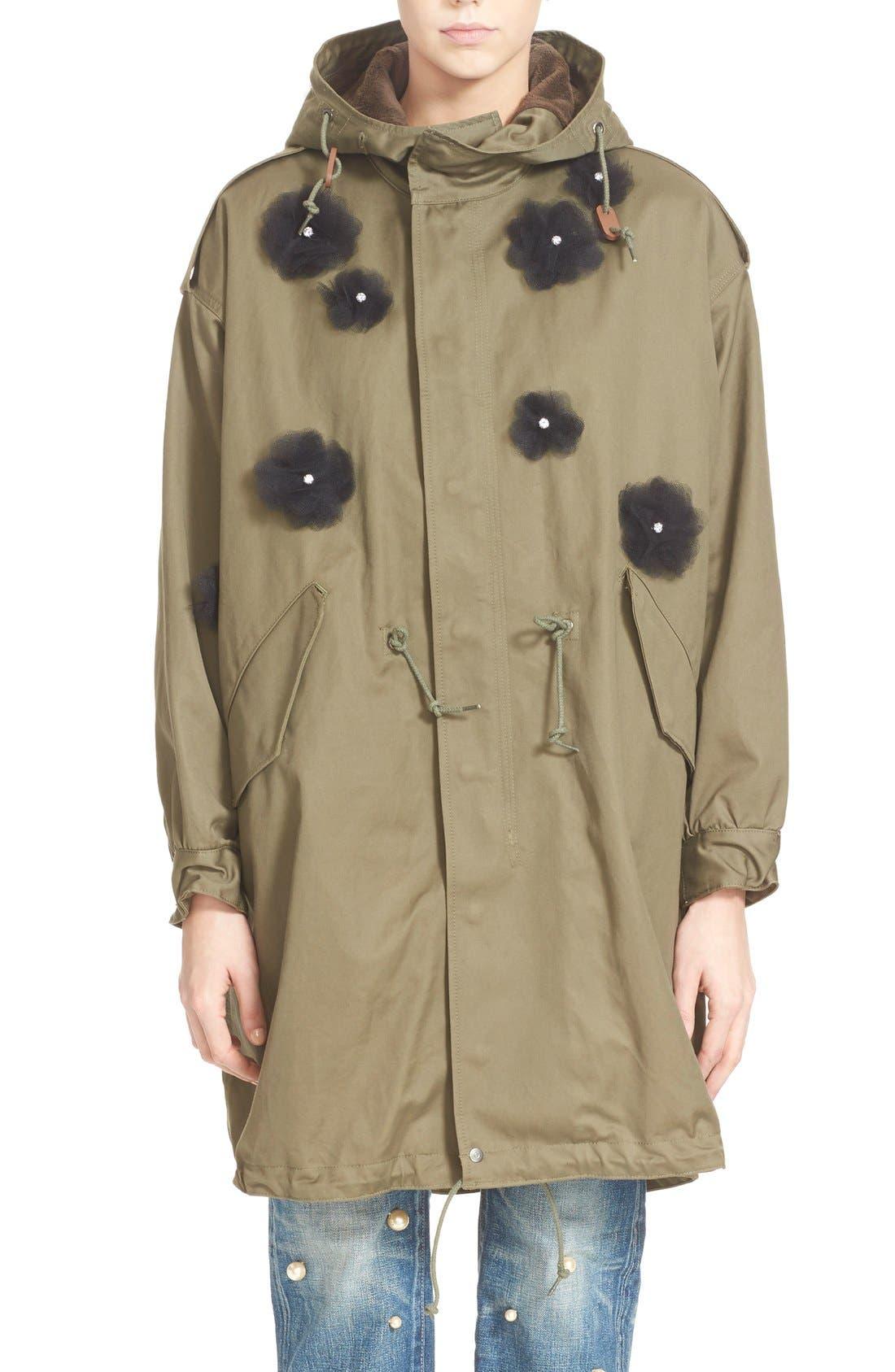 Main Image - Tu es mon TRÉSOR Tulle Flower Utility Coat