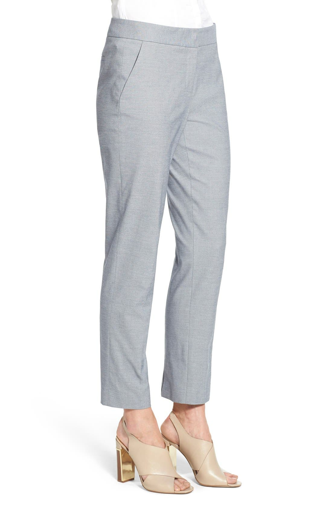 Alternate Image 4  - Nordstrom Collection Stretch Cotton Slim Ankle Pants