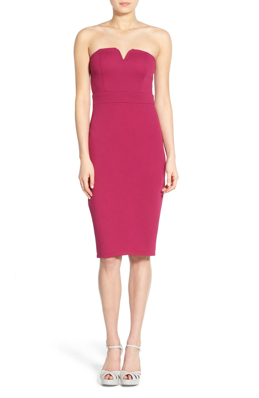 Alternate Image 1 Selected - Speechless Strapless Sheath Dress