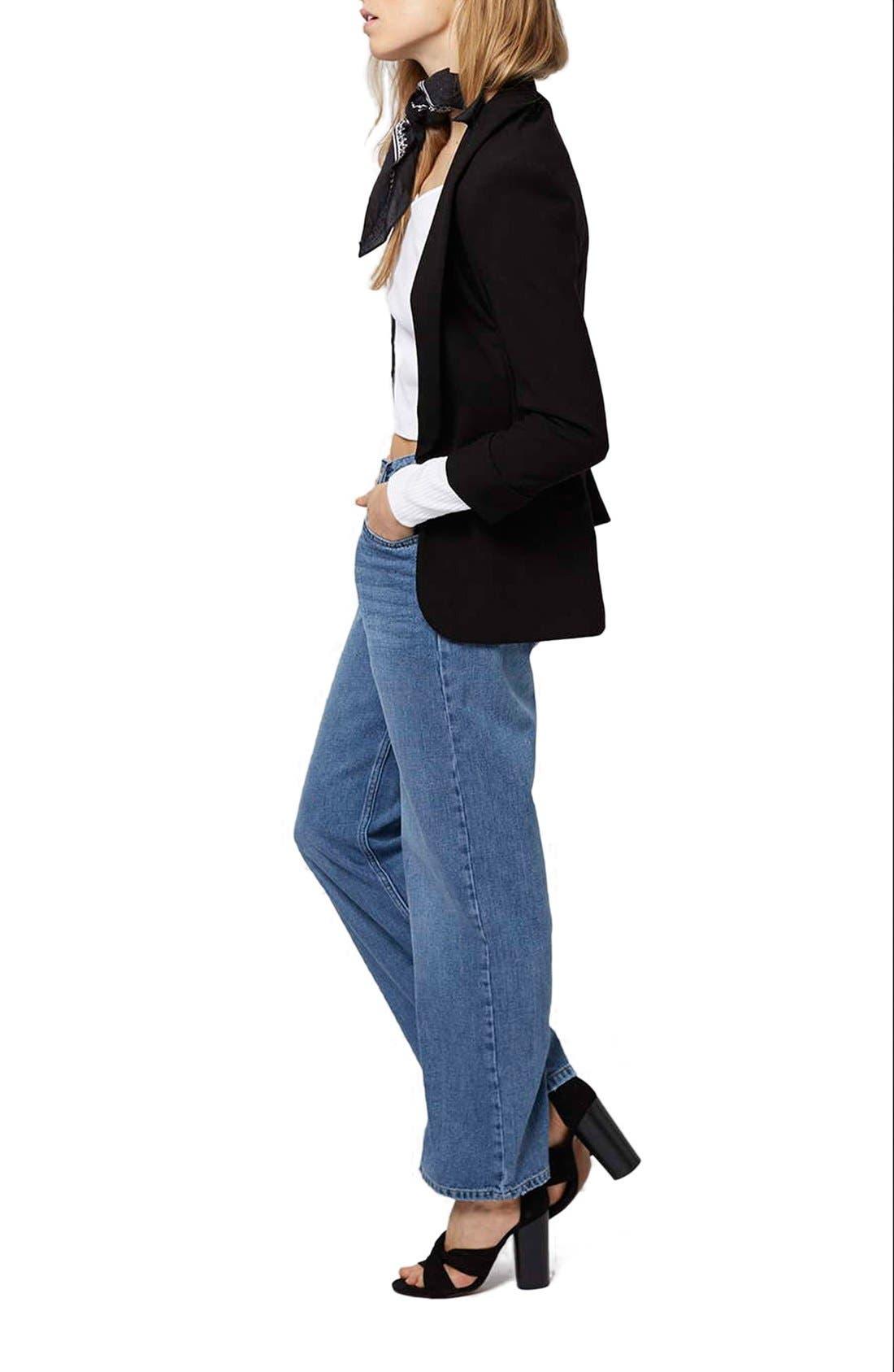 Alternate Image 2  - Topshop 'Girlfriend' Shawl Blazer