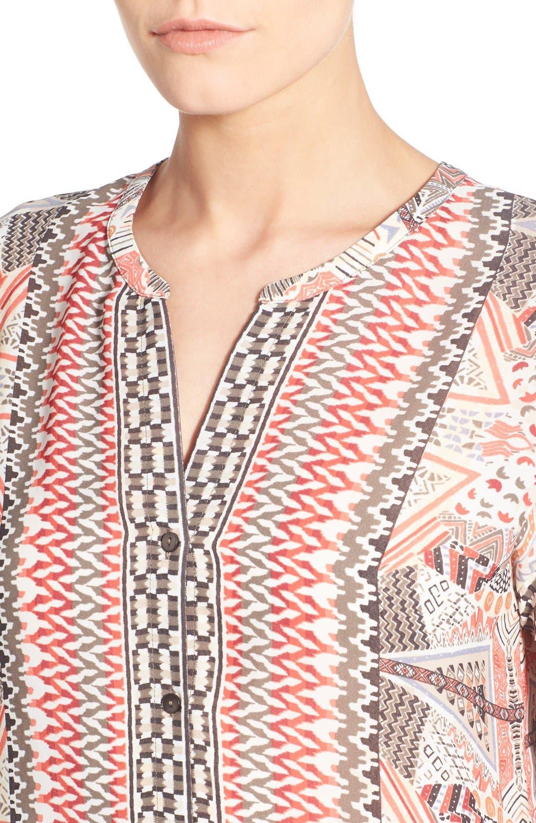 Alternate Image 4  - NIC+ZOE 'Prismatic' Print Shift Dress